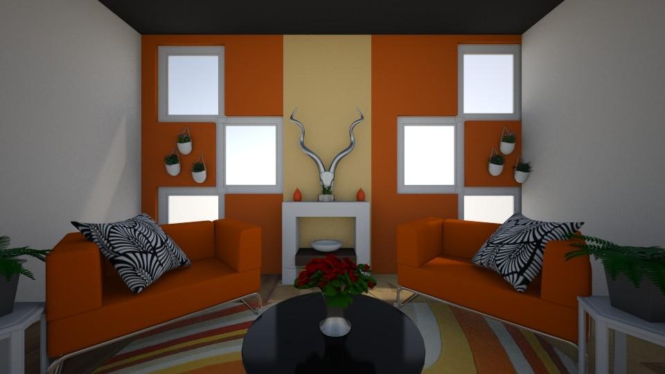 Orange Juice Vibes - Living room - by iampebbles