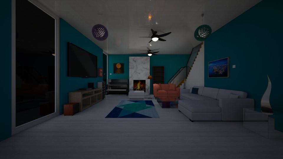 t - Living room - by The cartoon fan