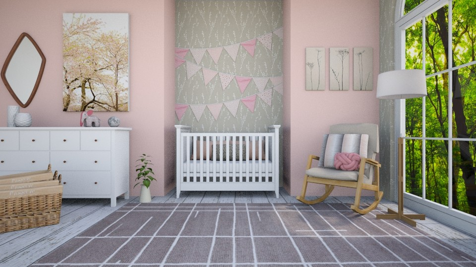 pink nursery - Kids room - by Brianna_322