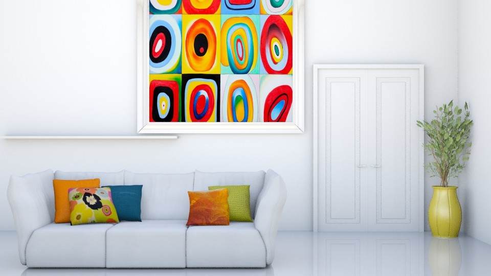 WhiteAndColor - Living room - by Naavarin