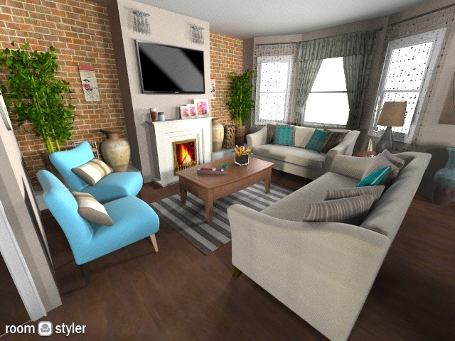 home 11 - Glamour - Living room - by sally89