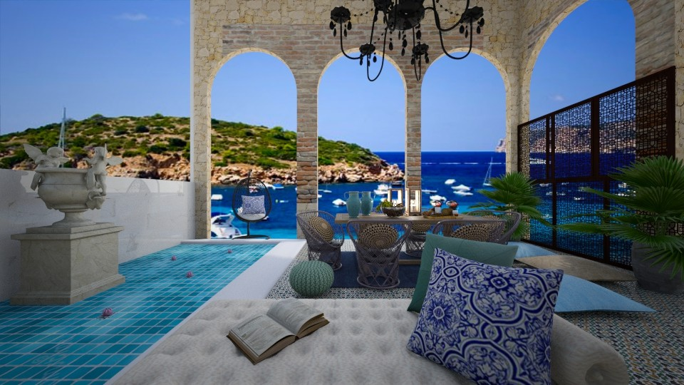 Mediterranean Courtyard  - Global - by bgref