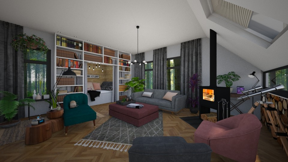 cabin in the woods - Living room - by TRMVM