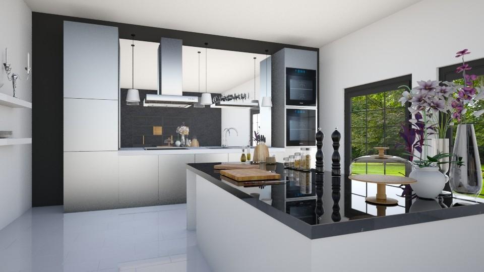 modern kitchen - Modern - Kitchen - by maudberg01