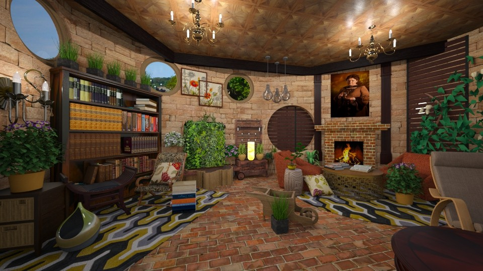 Hufflepuff Pride - Country - Living room - by harshada samant