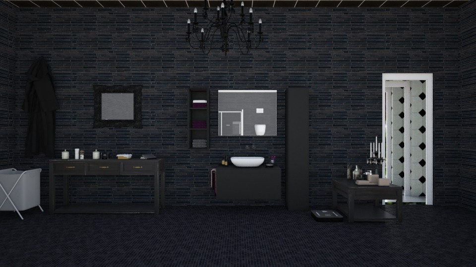 Black Bath - Classic - Bathroom - by InteriorDesigner111