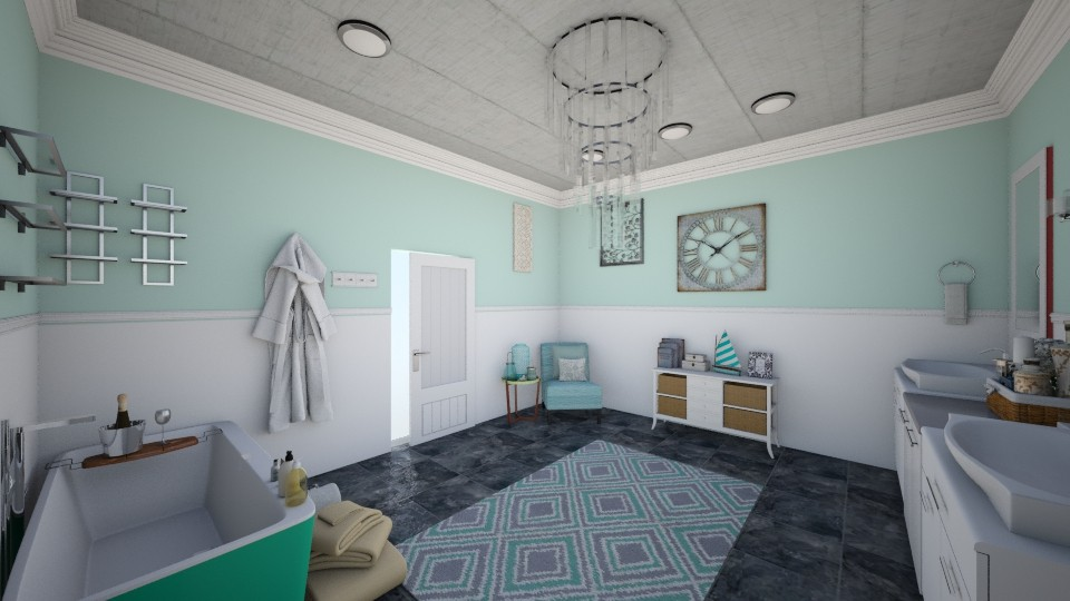 Mint Green Bathroom - Bathroom - by Taisha Casimir