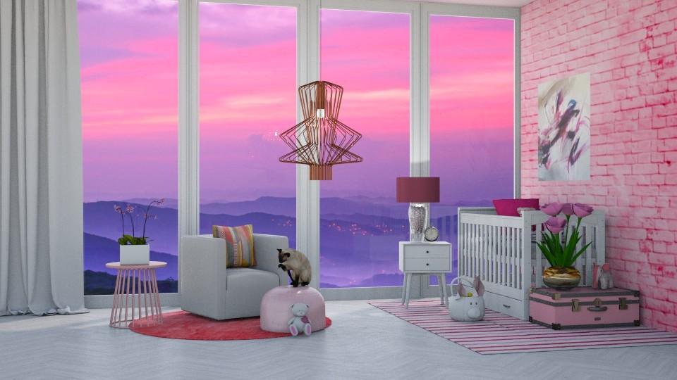Ombre Nursery - Modern - Bedroom - by bgref