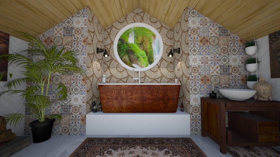 Boho Contemporary Bath - Eclectic - Bathroom - by hollyhough549