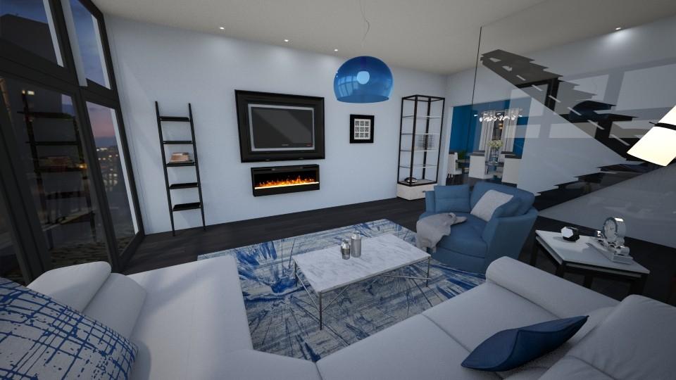 Blue Modern Living Room - Modern - Living room - by pfeilswdm