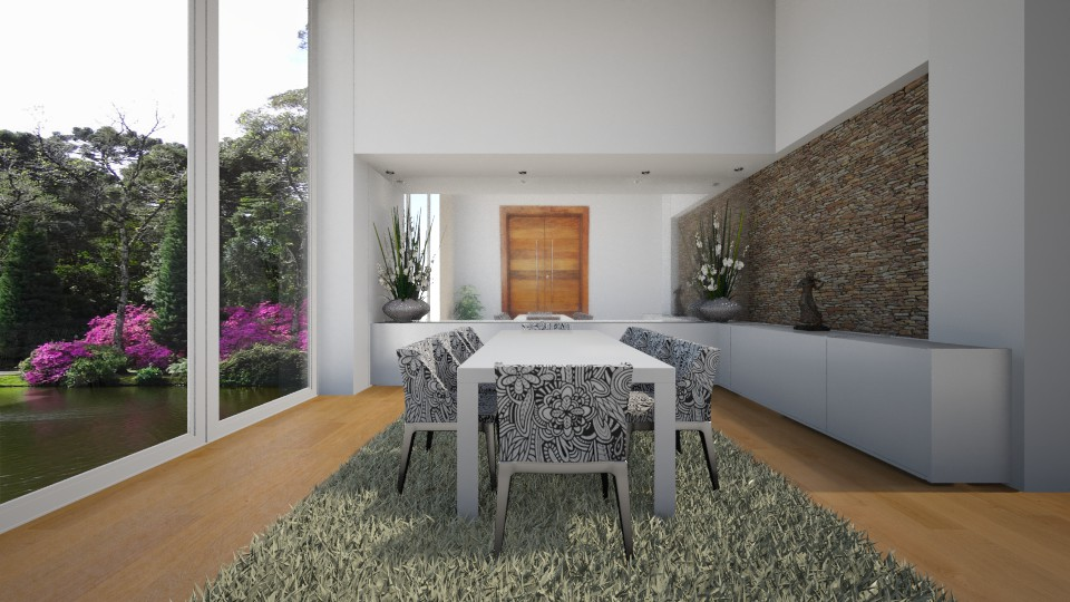 Sala de Jantar  - Dining room - by Sanare Sousa