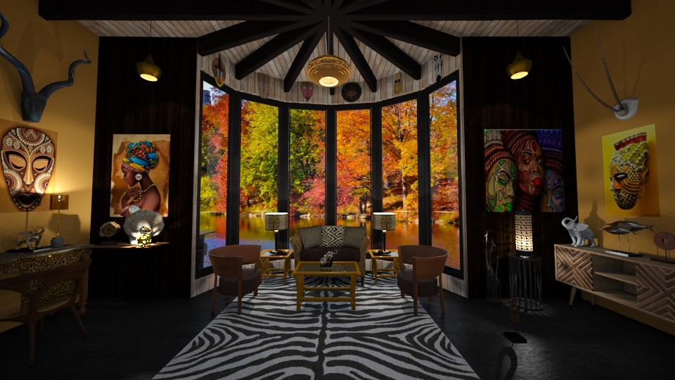 African Touch  - Global - Living room - by Kelly Carter