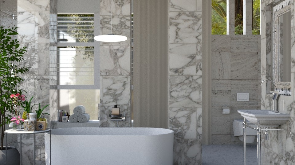 Marble Bathroom - Bathroom - by JayPH
