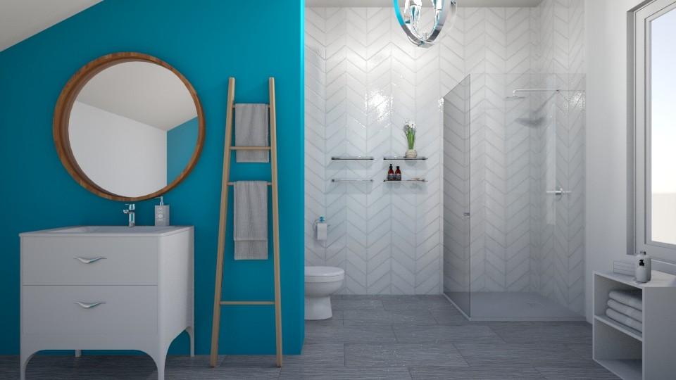 blue bathroom - by IsabelRule