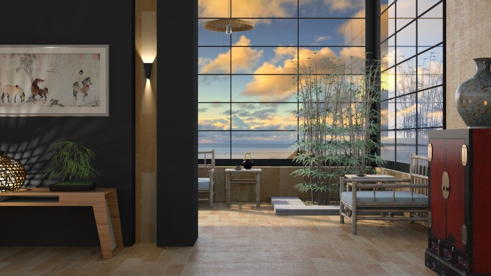 Bamboo Sun Room - Living room - by GraceKathryn