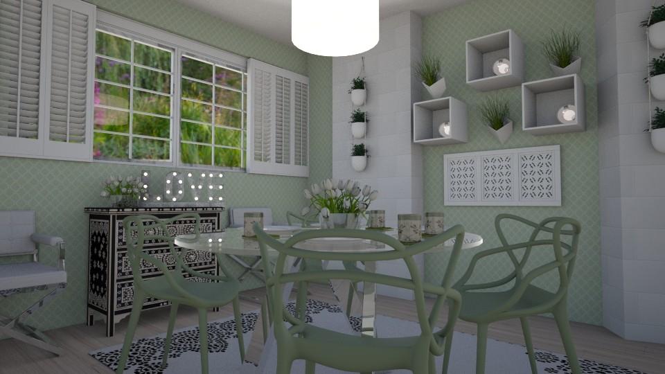 green dining - Dining room - by kla