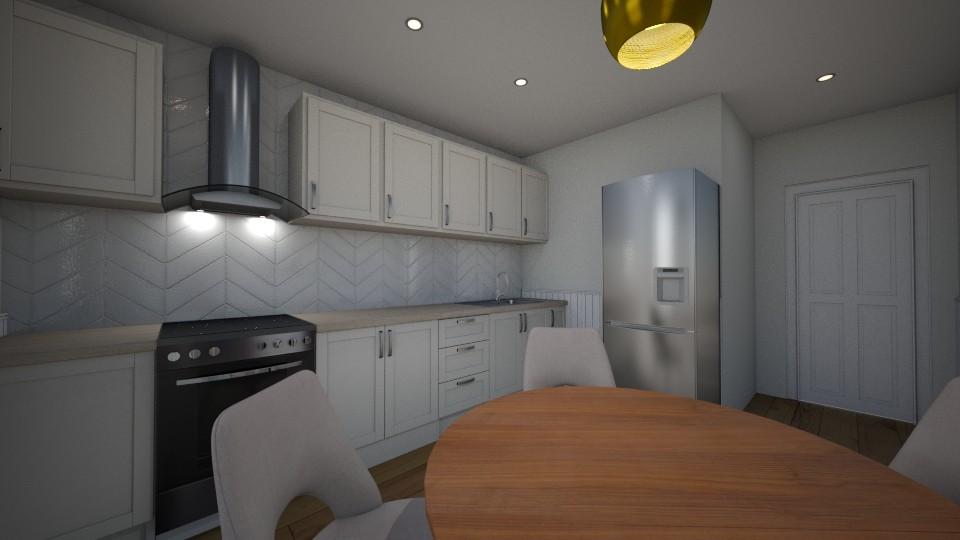 Julia apartment kitchen - Kitchen - by Vladilena Kipriyanova