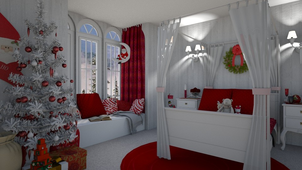 Festive Bedroom - by creato