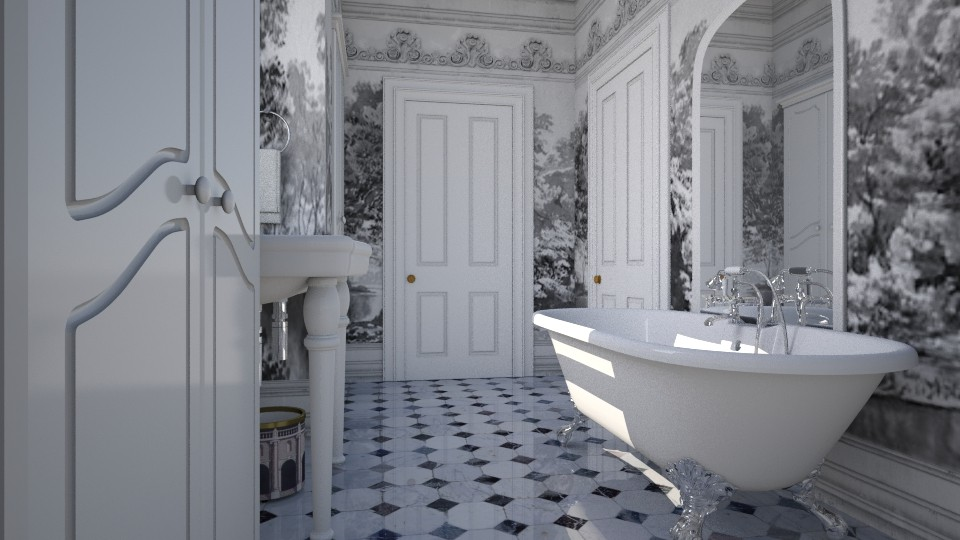 Marble Bathroom - by Valentinapenta
