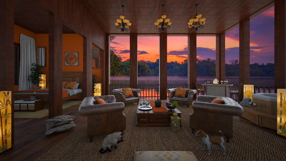 Sunset on the Lake Hotel - by lydiaenderlebell