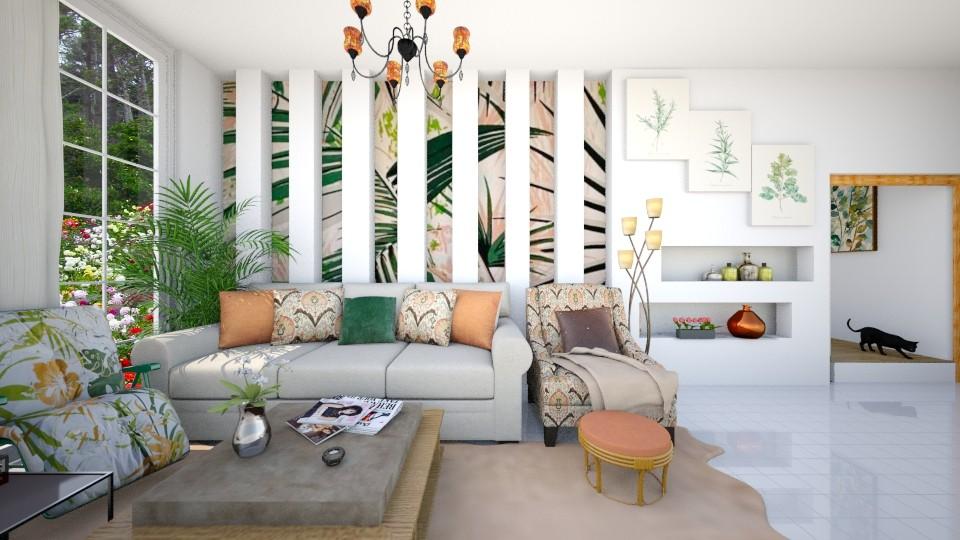 Tropical_Living - Country - Living room - by anniecleetus