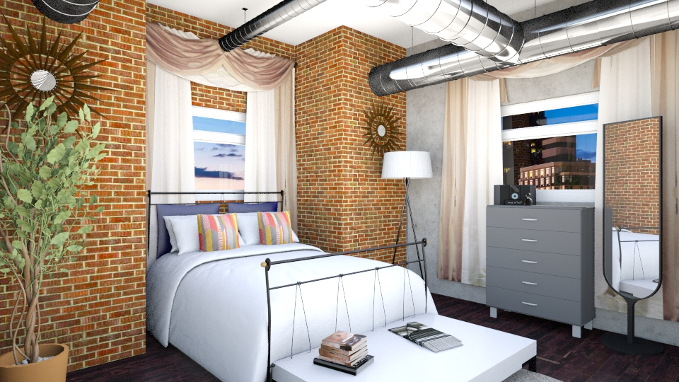 Industrial Room - Bedroom - by Laken Barnett