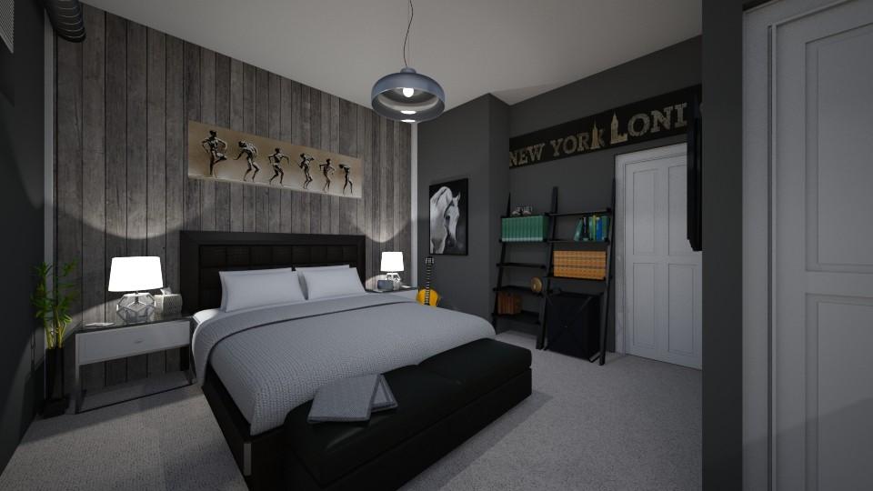 Zach Herron 1 - Modern - Bedroom - by AnnamariMay