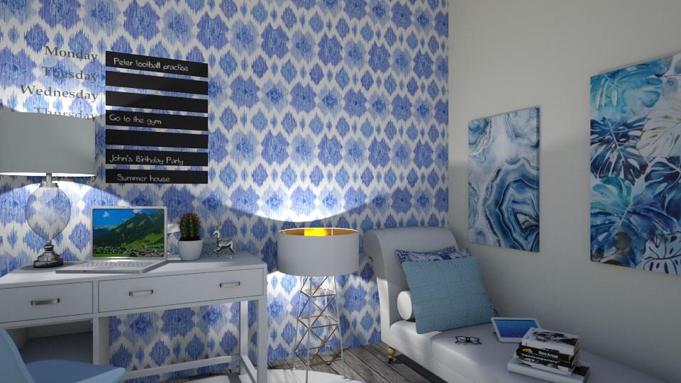 A Very Blue Clue - by Qtangel