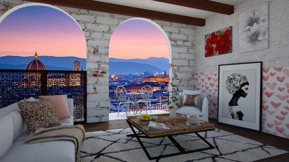 Valentines in Italy - Living room - by bgref