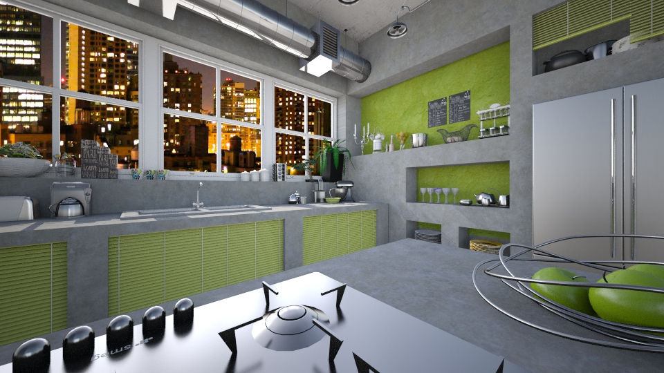 Concrete kitchen - by Nufra