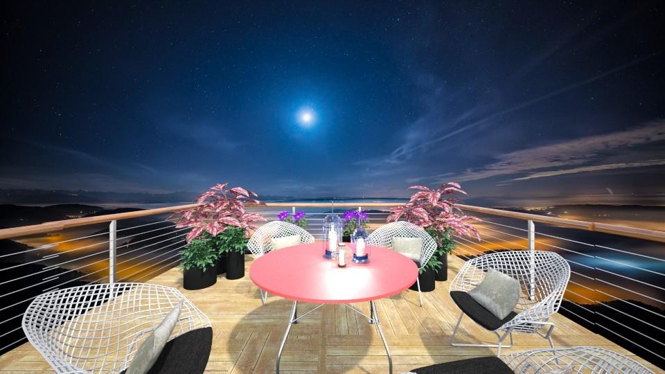 Moonlight Balcony - Garden - by Tara T