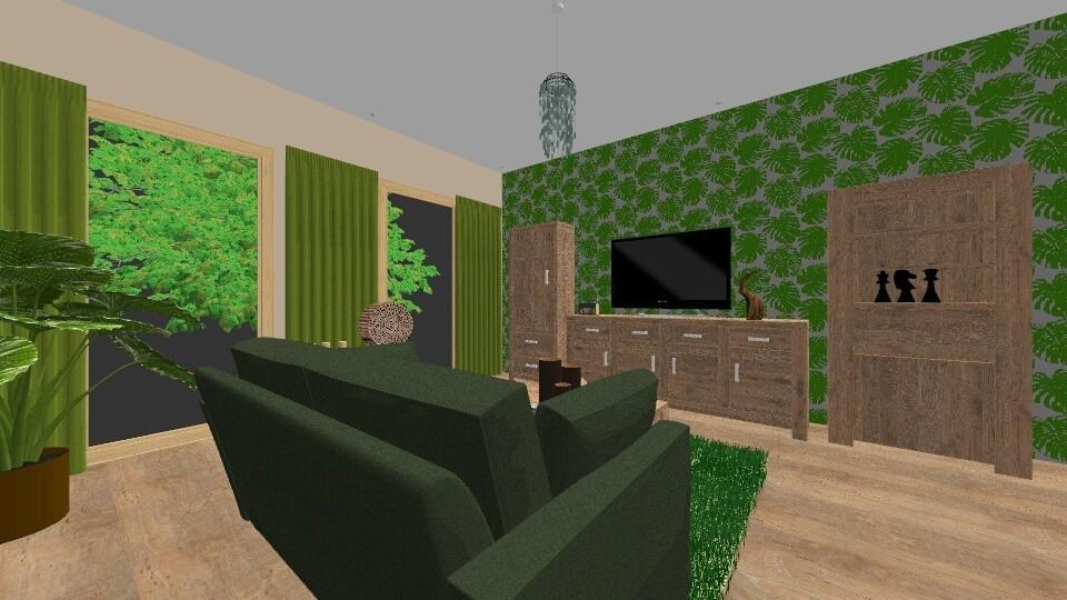 zielony - Living room - by DERRYS