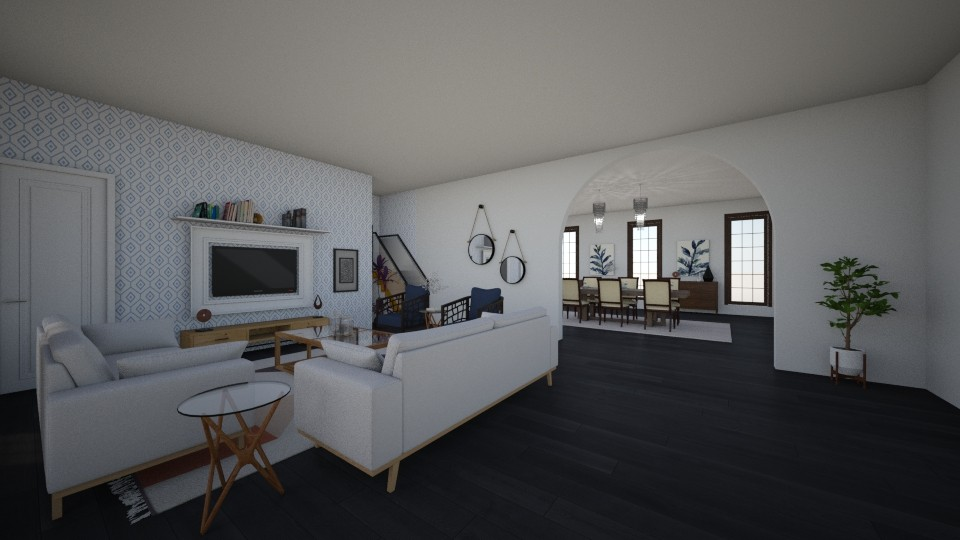 Open space - Living room - by anninha2213