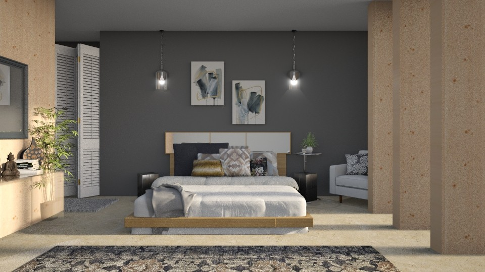 Modern Bedroom - Bedroom - by Kelli Mallory