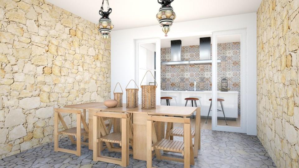 patio in summer villa - by gloria marietti