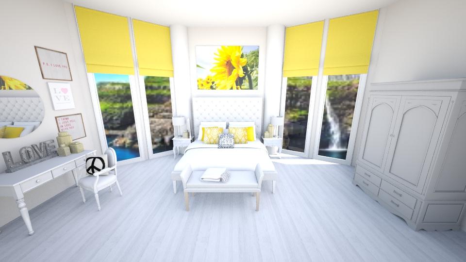 Bright Bedroom  - Bedroom - by jessicabaucke