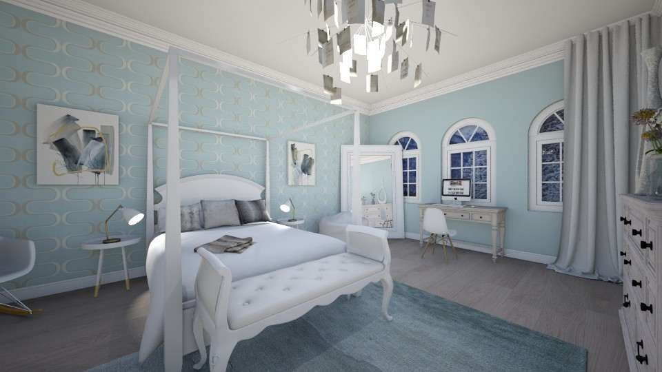 Soft Blue Bedroom - Bedroom - by LaughingDonut