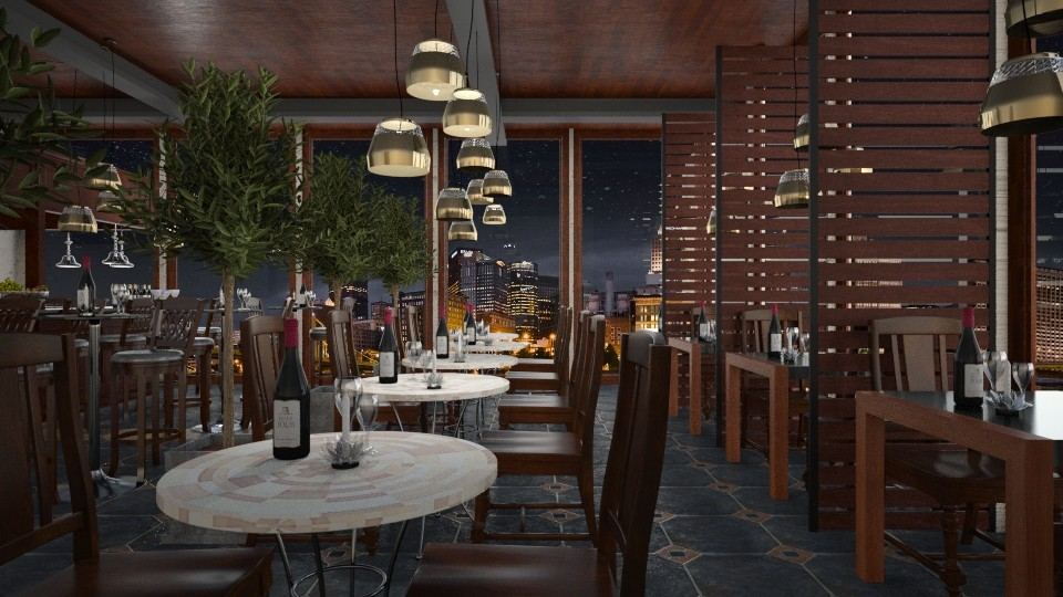 Design 268 Urban Wine Bar - Dining room - by Daisy320