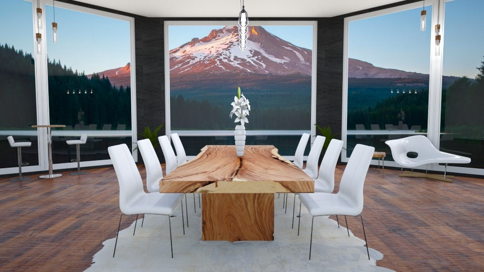 mountain - Minimal - Dining room - by annator