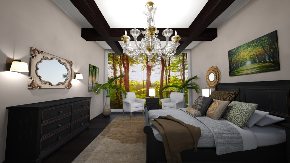 earthy boho bedroom - by chloe_mccarty