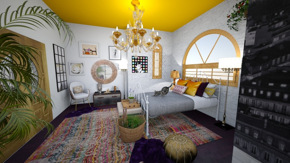 Boho dream - Vintage - Bedroom - by Smiljka Kostic