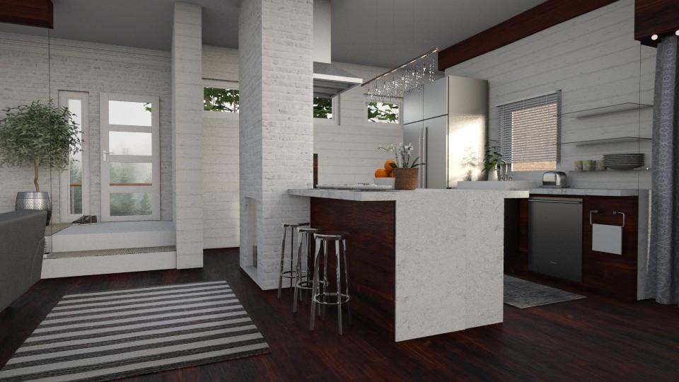 glass and stone - Kitchen - by Kelli Mallory