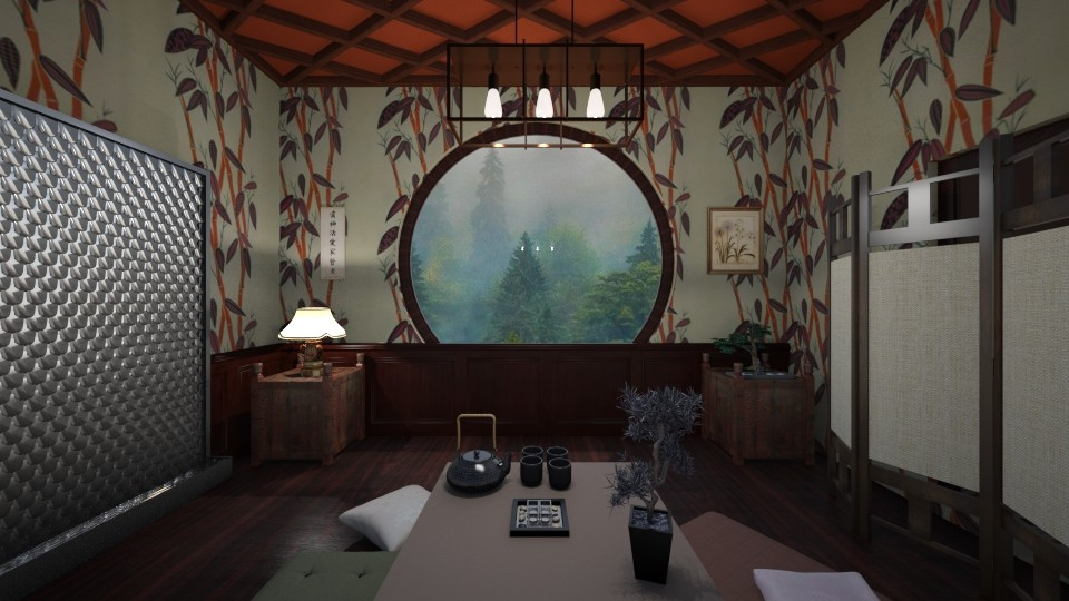 Bamboo and Water - Living room - by babbjii