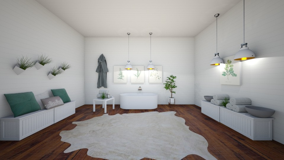 Spa Room - Minimal - Bathroom - by artist4568