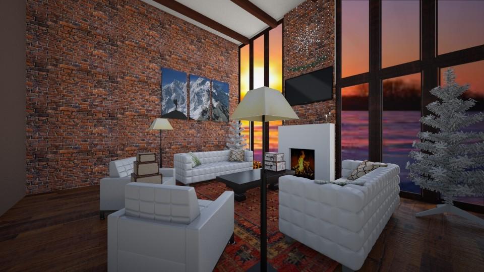 Cozy cabin - Living room - by amybranco