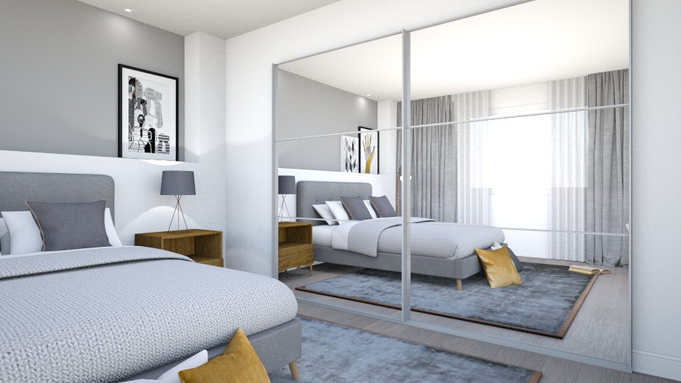dormitorio nordico indust - Masculine - by wikideco