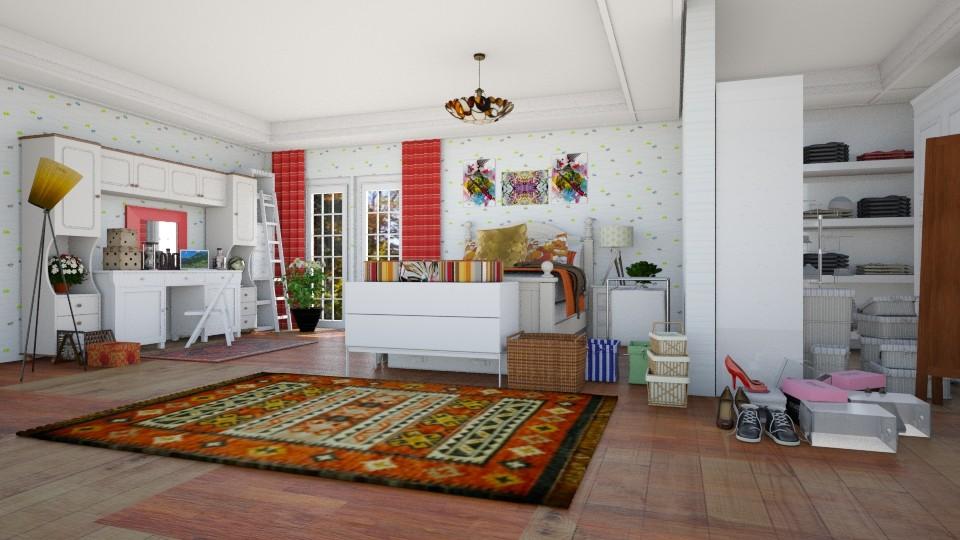 orange room - Bedroom - by sarasepideh