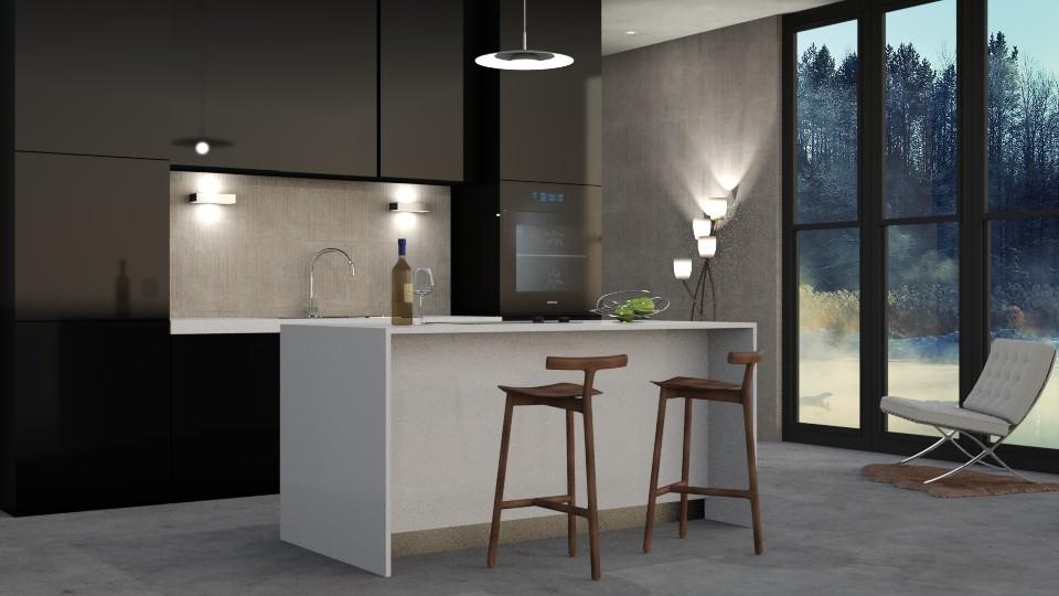 Minimalist Kitchen - by DeborahArmelin