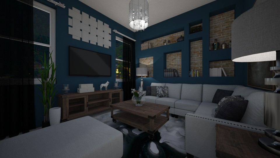 BLUE - Living room - by Amairany Peralta