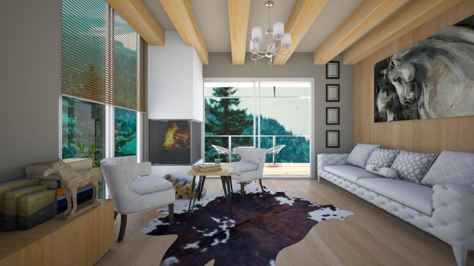 wood love - Living room - by kanatsizmelek